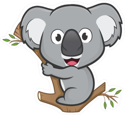 Koala On A Tree Sticker