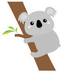 Koala on Eucalyptus Tree Sticker