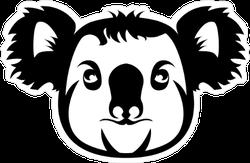 Koala Silhouette Sticker