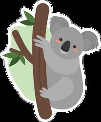 Koala Sitting in Tree Sticker