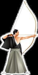 Kyudo, Japanese Martial Art Of Archery Master Sticker