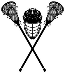 Lacrosse  Equipment Front View Sticker