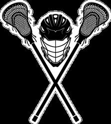 Lacrosse  Equipment Front View Sticker