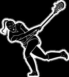 Lacrosse Female Swing Stick Sticker