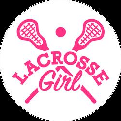 Lacrosse Girl Sticker