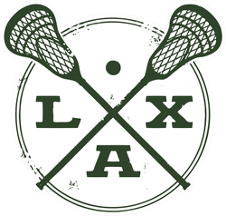 Lacrosse Lax Vintage Style Stamp Sticker
