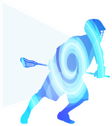 Lacrosse Player In Protective Gear Art Sticker
