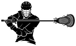 Lacrosse Player Pose Front Sticker