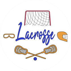 Lacrosse Players And Sportive Equipment Sticker