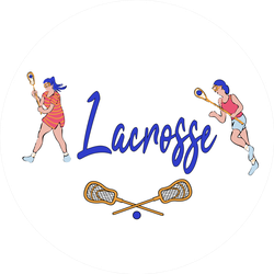 Lacrosse Players In Hand-drawn Style Sticker