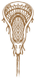 Lacrosse Sports Stick Sketch Sticker