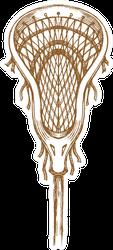 Lacrosse Sports Stick Sketch Sticker