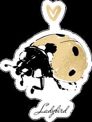 Ladybird Gold Sticker