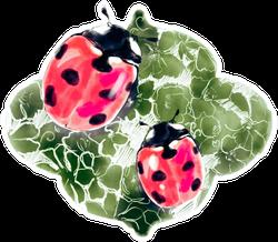Ladybug Watercolor Sketch Sticker