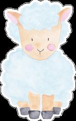 Lamb Sheep Watercolor Illustration Sticker