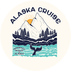 Landscape With Forest And Mountains Alaska Cruise Sticker