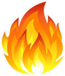 Large Flame Sticker