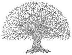 Large Oak Tree With Roots Sticker