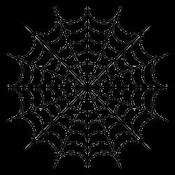 Large Spider Web Halloween Sticker