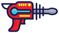 Laser Gun Toy Sticker