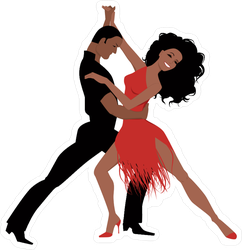 Latin Ballroom Dance Sticker
