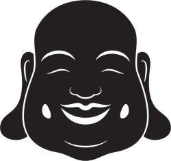 Laughing Buddha Head Sticker