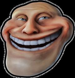 Laughing Troll Head Sticker