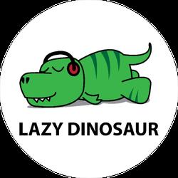 Lazy Dinosaur Sticker