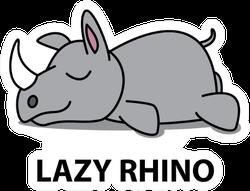 Lazy Rhino Icon Sticker