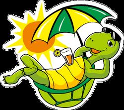 Lazy Turtle Summer Holiday Sticker