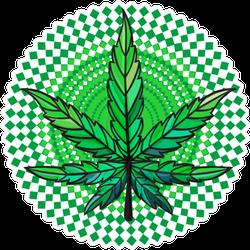 Leaf Of Marijuana Illustration Isolated On White Sticker