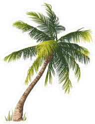 Leaning Palm Tree Sticker
