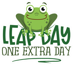 Leap Day, One Extra Day Frog Sticker