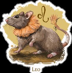 Leo Rat Illustration Of Astrological Sign Sticker