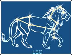 Leo Zodiac Constellation Sticker