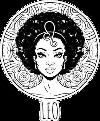 Leo Zodiac Sign Artwork Sticker