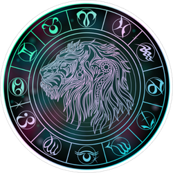 Leo Zodiac Sticker