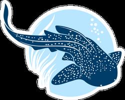 Leopard Shark Icon Sticker