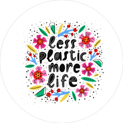 Less Plastic More Life Sticker