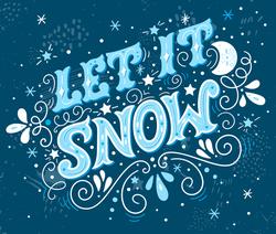 Let It Snow Retro Lettering Winter Sticker