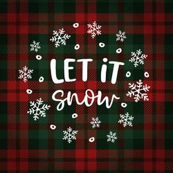 Let It Snow Winter Flannel Sticker