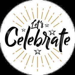 Let's Celebrate Star Sticker