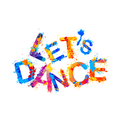 Let's Dance Rainbow Splatter Sticker