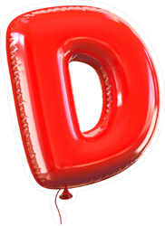 Letter D Balloon Font Sticker