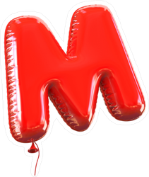 Letter M Balloon Font Sticker