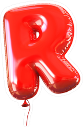Letter R Balloon Font Sticker