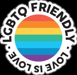 Lgbtq Friendly Sticker