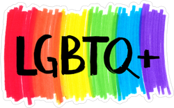 lgbtq+ Rainbow Background Sticker