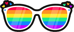 Lgbtq Rainbow Lenses Sticker