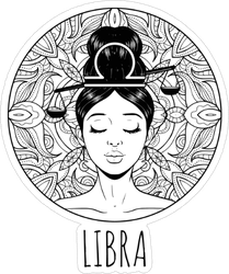 Libra Zodiac Sign Artwork Sticker